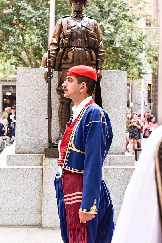 Wreath Laying Ceremony. Partin Place Sydney. 16 April 2016. Presidential Guard