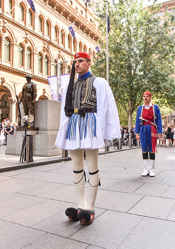 Presidential Guard at Martin Place. April 2016
