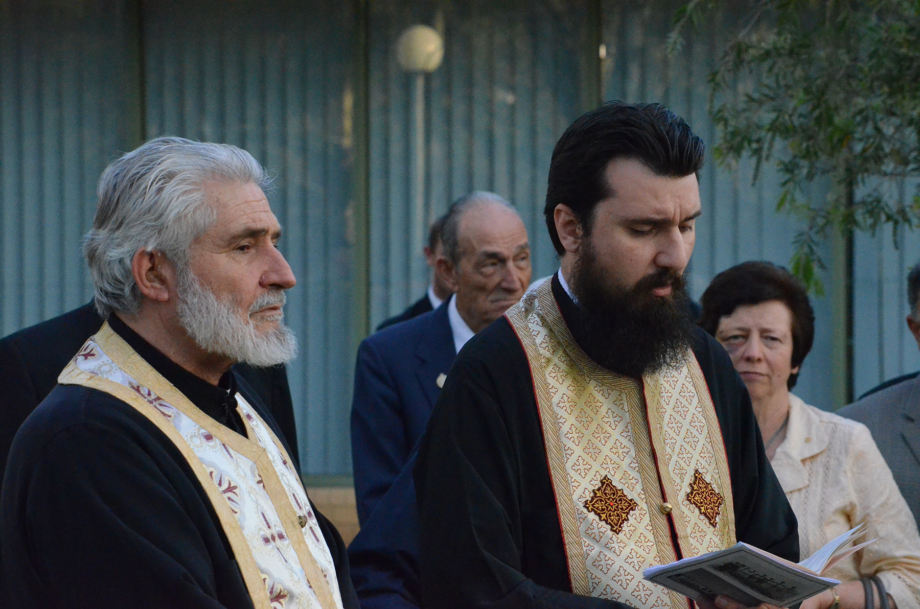 07 Greek Orthodox Prayer Blessing at Lamia Barracks Commemoration 16 Sept. 2011