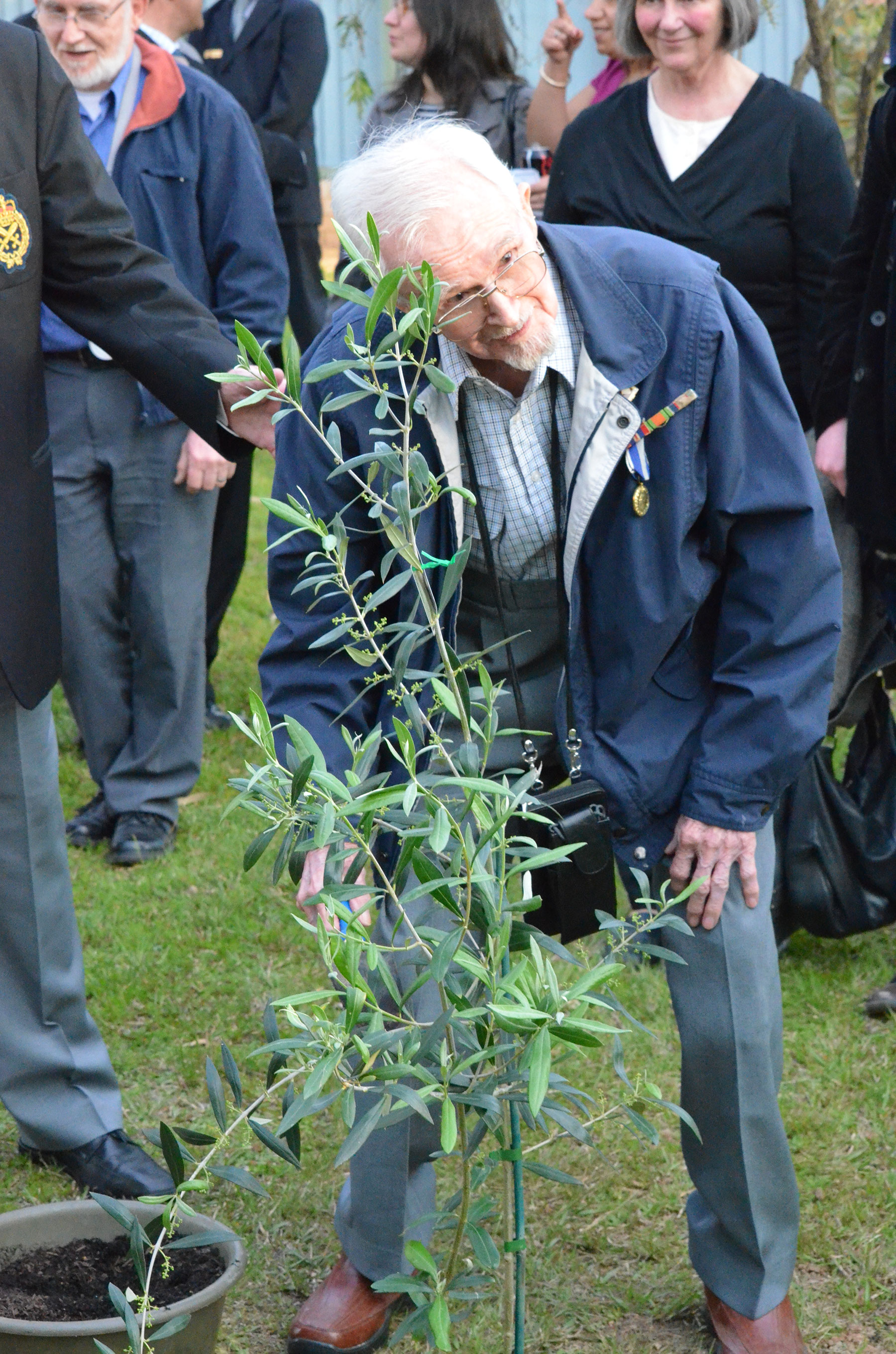 12 Veteran Taking Part in Official Olive Tree Planting Ceremony Lamia Barracks 16 Sept 2011