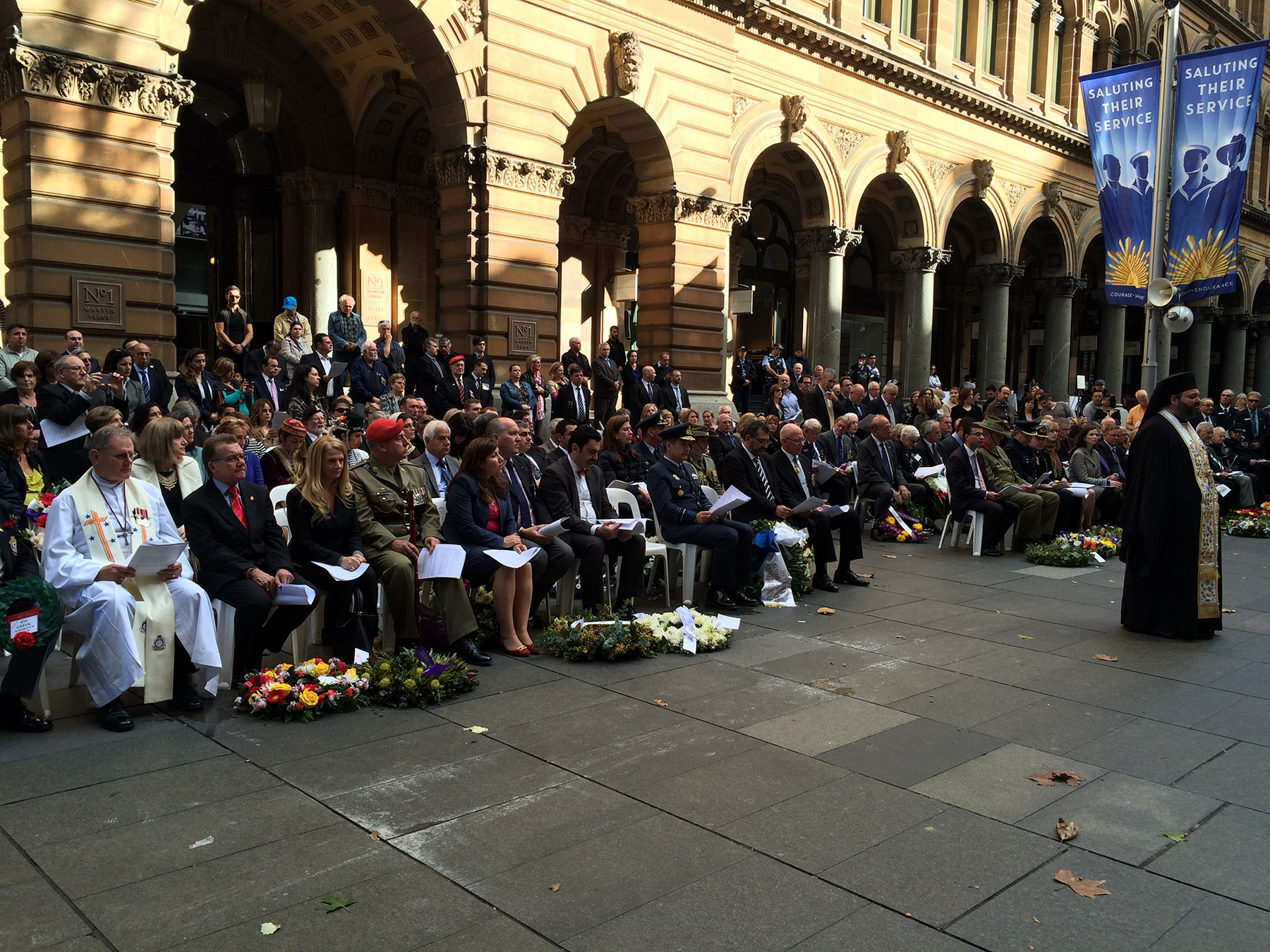 Martin Place Cenotaph Wreath Laying Ceremony. May 2015