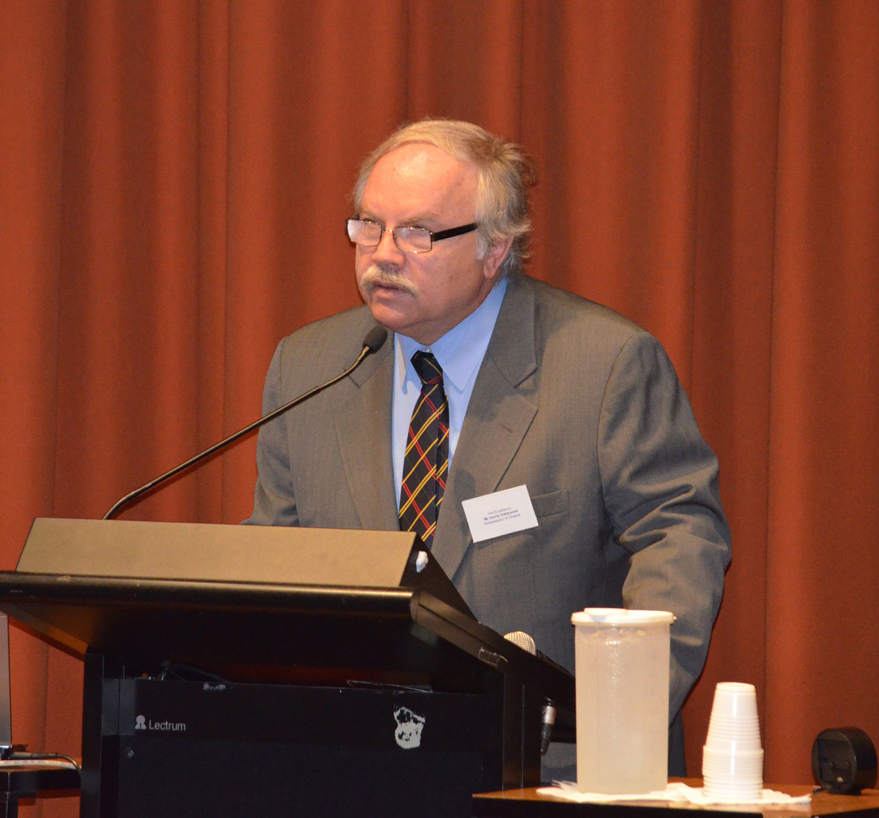 02 Symposium 6th Dec 2012. Greek Ambassador Mr Harris Dafaranos