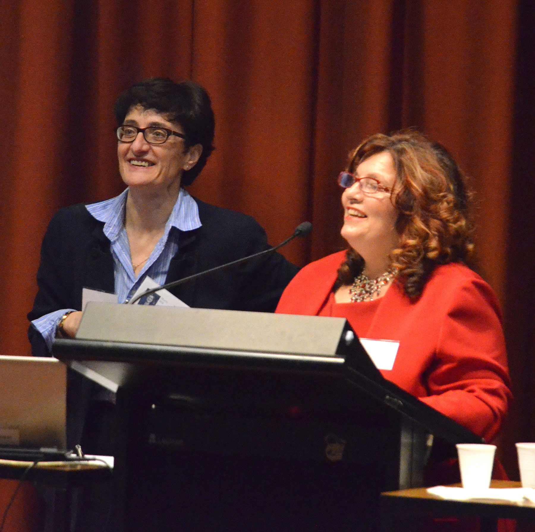 05 Symposium 6th Dec 2012. Keynote Speaker Prof Joy Damousi With Symposium Convenor Dr Maria Hill
