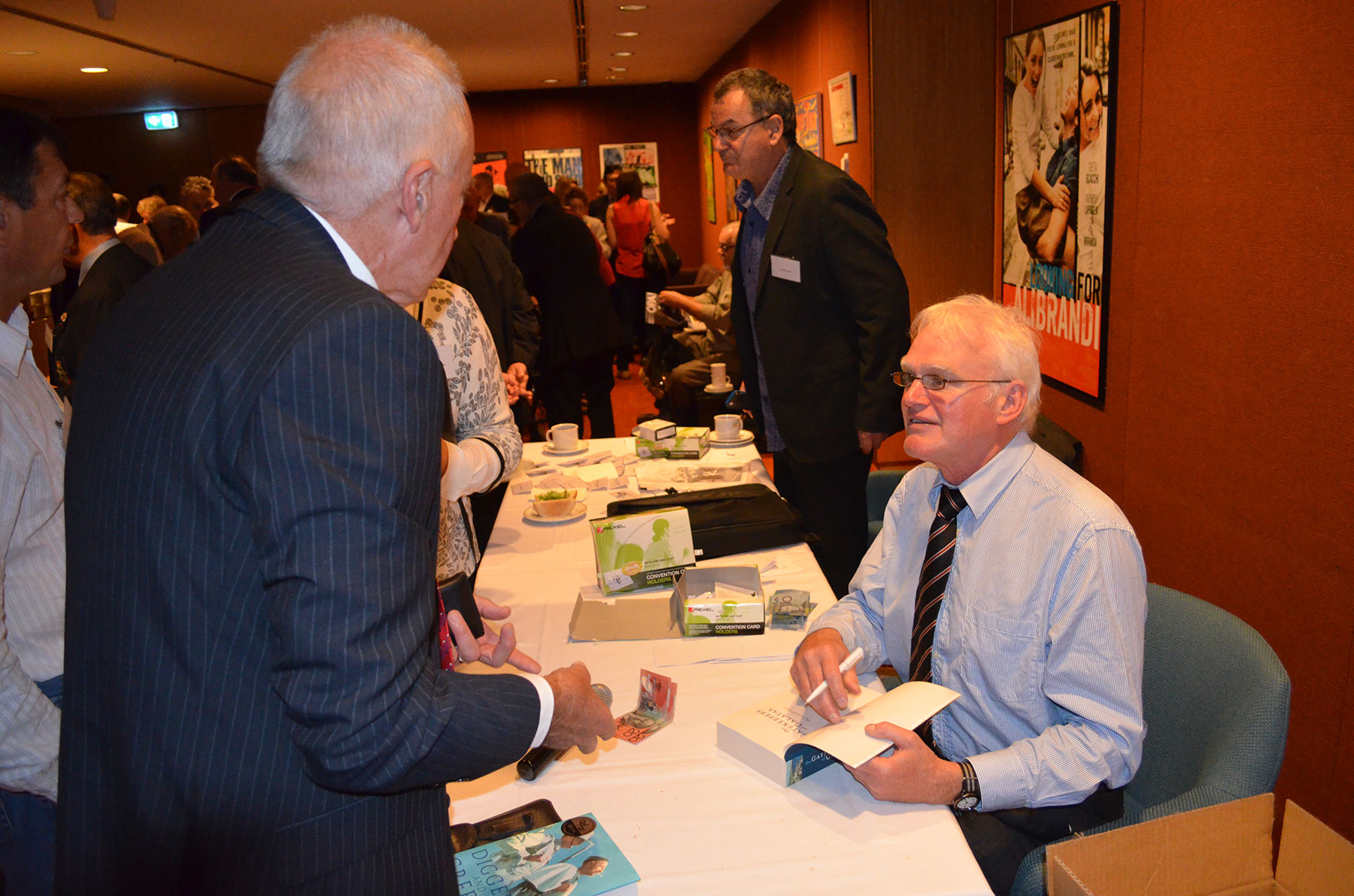 07 Symposium 6th Dec 2012. Brian Taaffe Signing Books