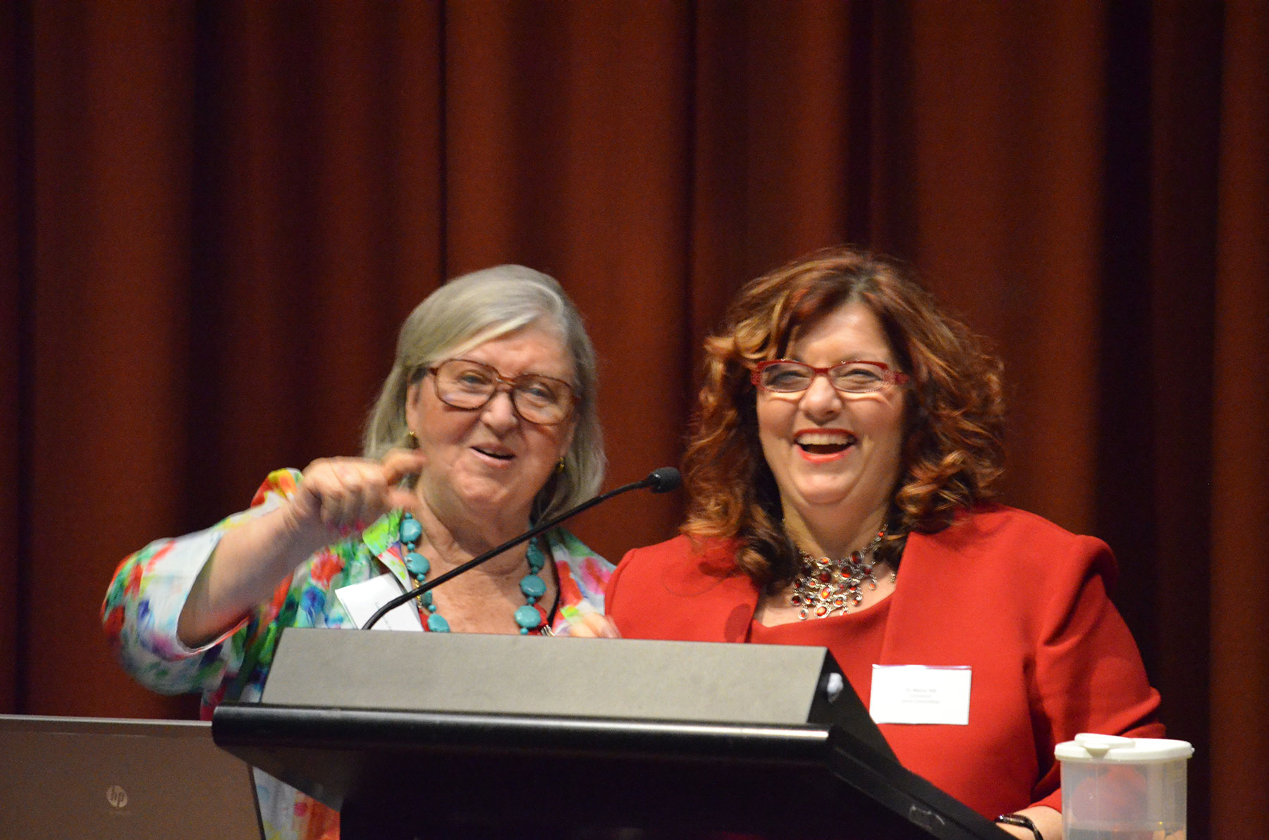 09 Symposium 6th Dec 2012. Susanna De Vries With Maria Hill
