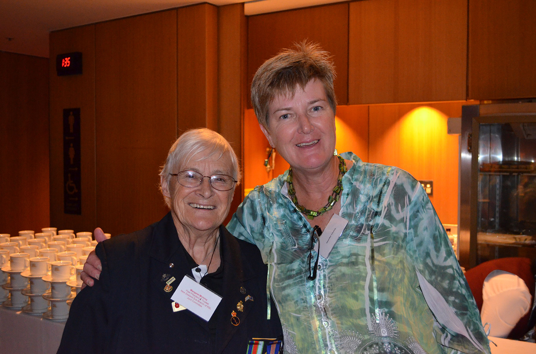 19 Symposium 6th Dec 2012. Daughter Of Veteran Jennifer Choice and Nz Sub Branch Of Rsl Margaret Mcinroy