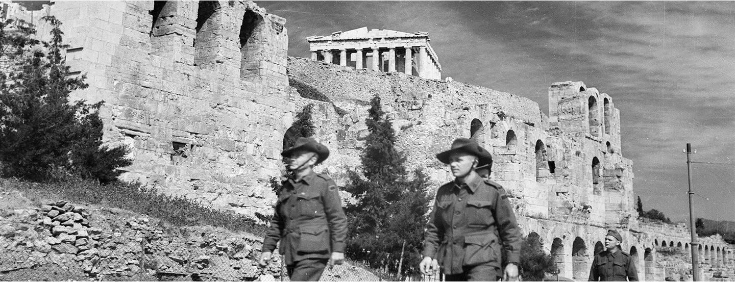 Australian soldiers on leave in Athens (AWM 006792)